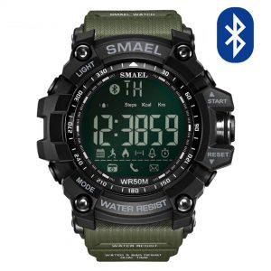 Pametna ura Smael S-shock GG1000-Bluetooth Army Green