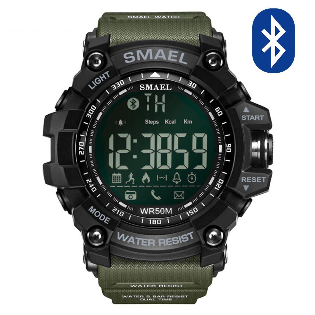 Pametna ura Smael S-shock GG1000-Bluetooth Army Green