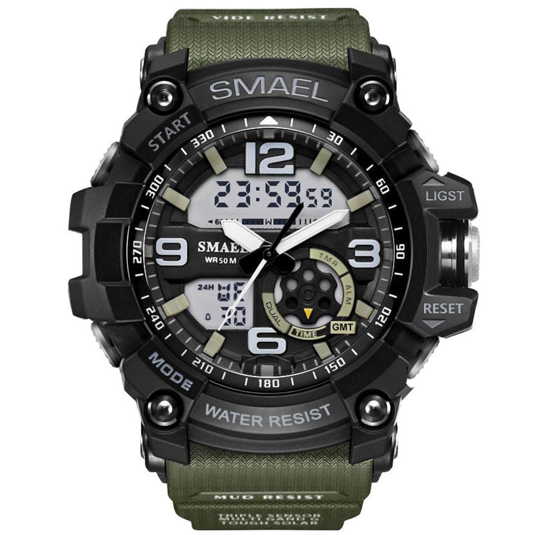 Moška ročna ura Smael S-shock GG1000 Army Green