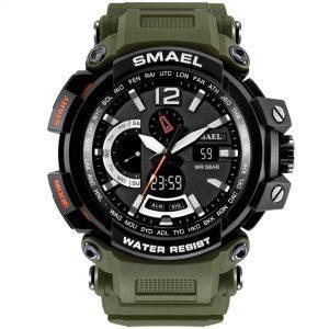 Moška ročna ura Smael S-shock GPW2000TFB Army Green