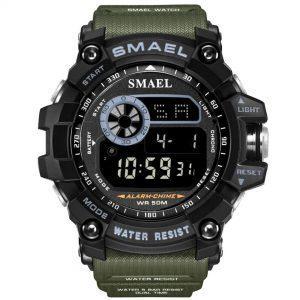Moška ročna ura Smael S-shock GWFD1035B Army Green