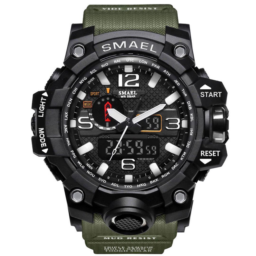 Moška ročna ura Smael S-shock Mudmaster Army Green