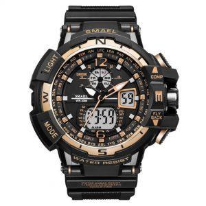 Moška ročna ura Smael S-shock GBT9000 Gold