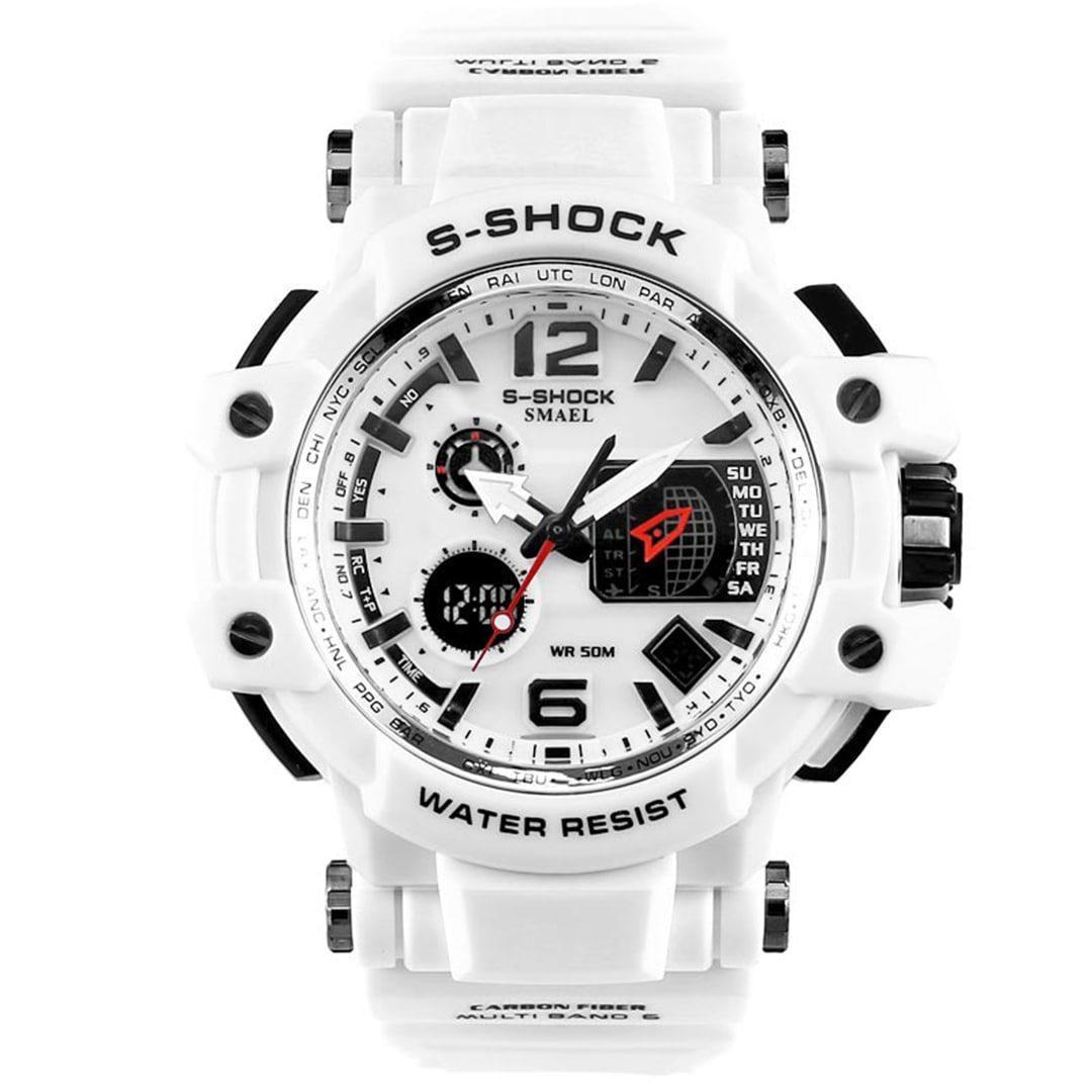 Moška ročna ura Smael S-shock GPW1000 White
