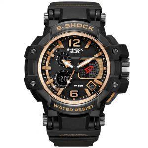 Moška ročna ura Smael S-shock GPW1000 Gold