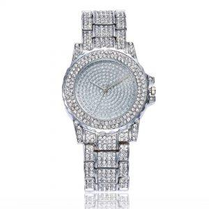 Ženska ročna ura Crystal Diamonds Silver