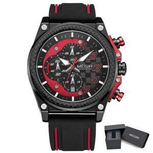 Moška ročna ura Megir GT Racer Red