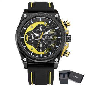 Moška ročna ura Megir GT Racer Yellow