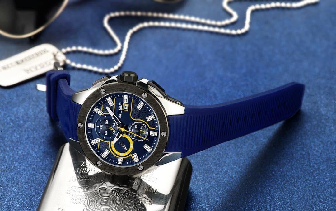 Moška ročna ura Megir Sporty Elegance Blue
