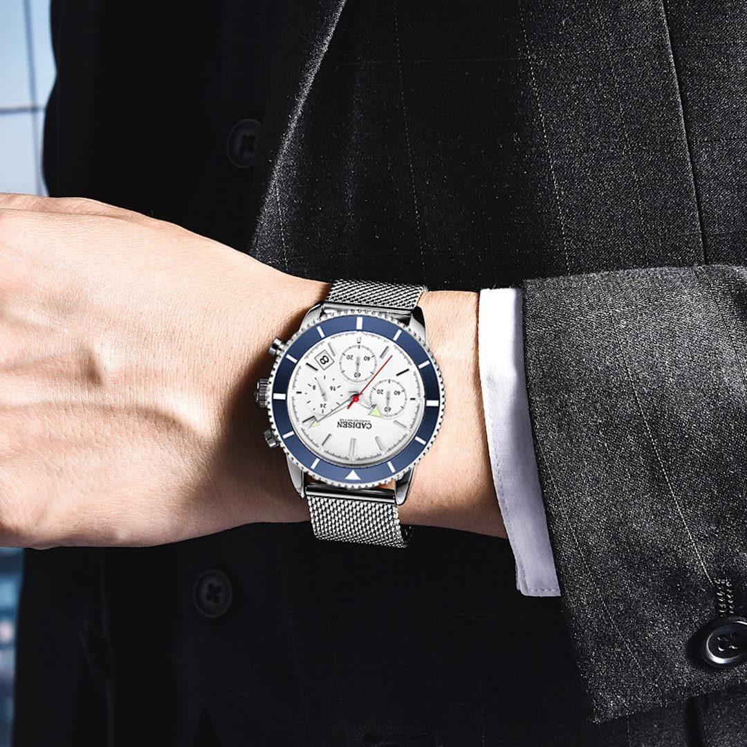 Moška ročna ura Cadisen Chronometre Blue