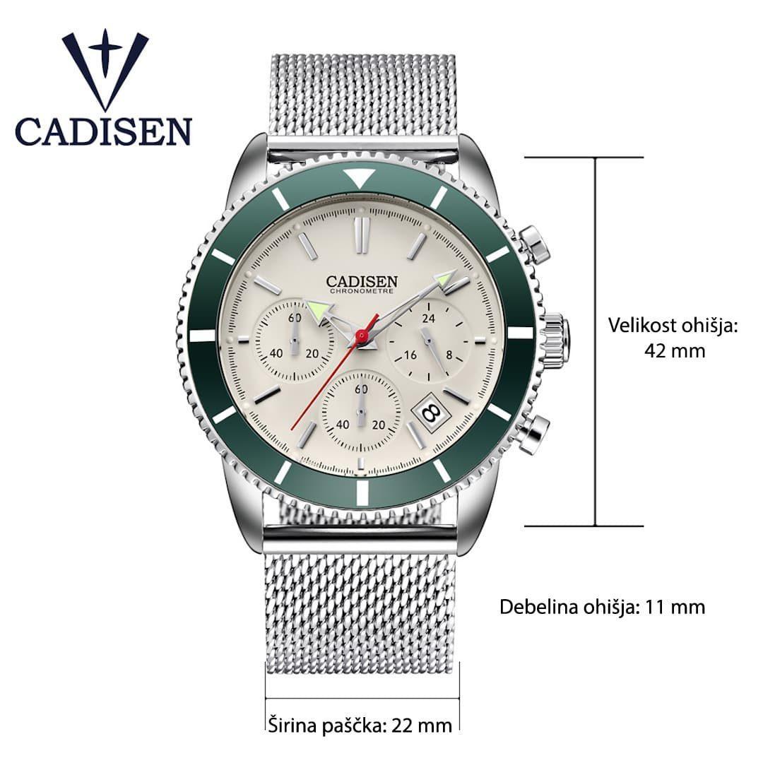Moška ročna ura Cadisen Chronometre Green