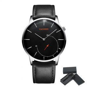 Moška ročna ura Cadisen Minimalistic Leather Black