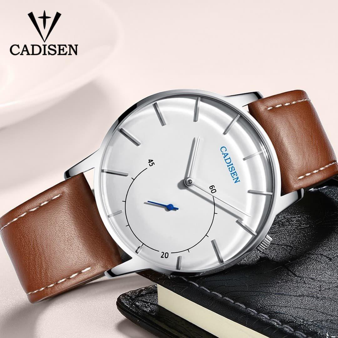 Moška ročna ura Cadisen Minimalistic Leather White