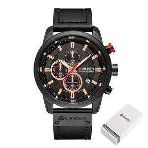 Moška ročna ura Curren Chronograph Black