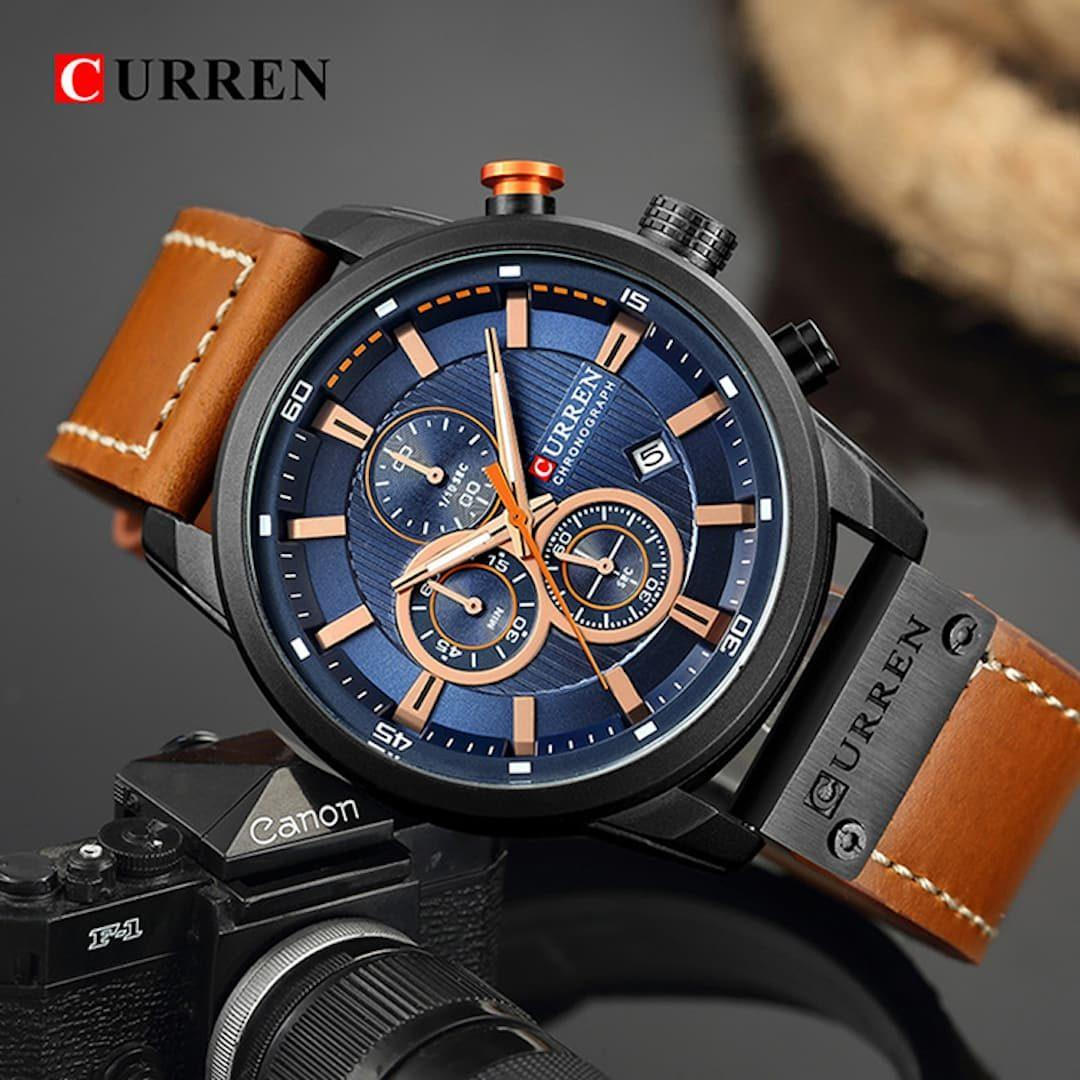 Moška ročna ura Curren Chronograph Black/Blue