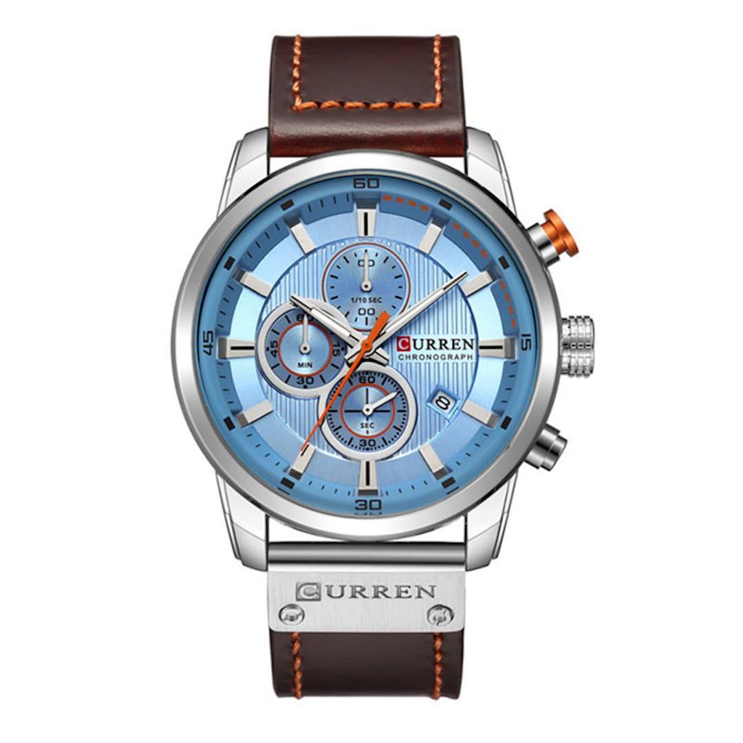 Moška ročna ura Curren Chronograph Silver/Blue