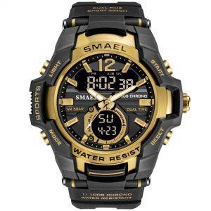 Moška ročna ura Smael S-shock Iron Gold