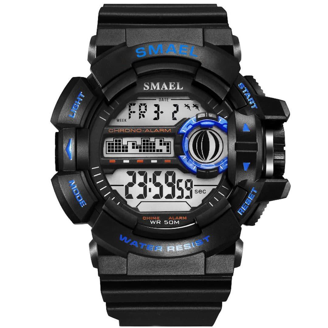 Moška ročna ura smael g-shock WR Blue