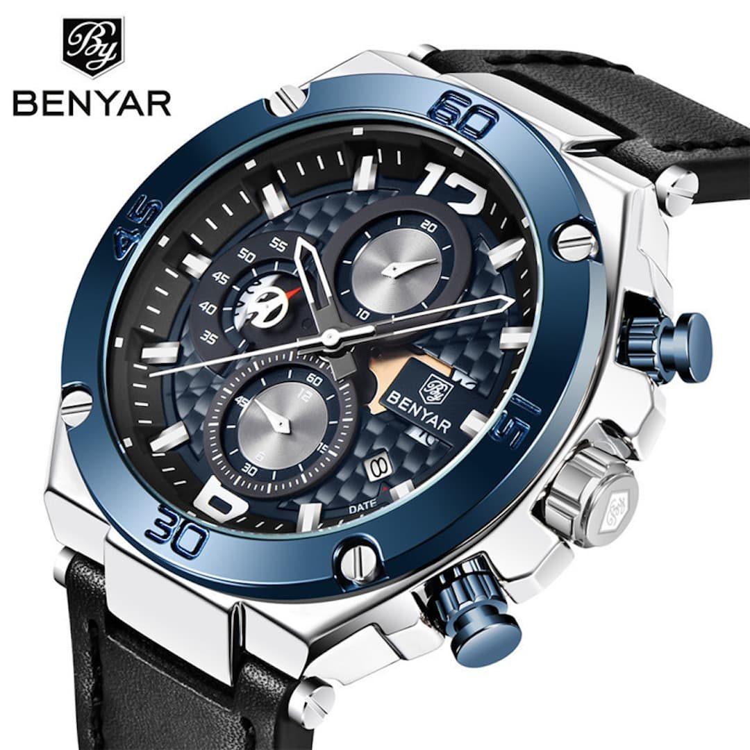 Moška ročna ura Benyar Major Blue