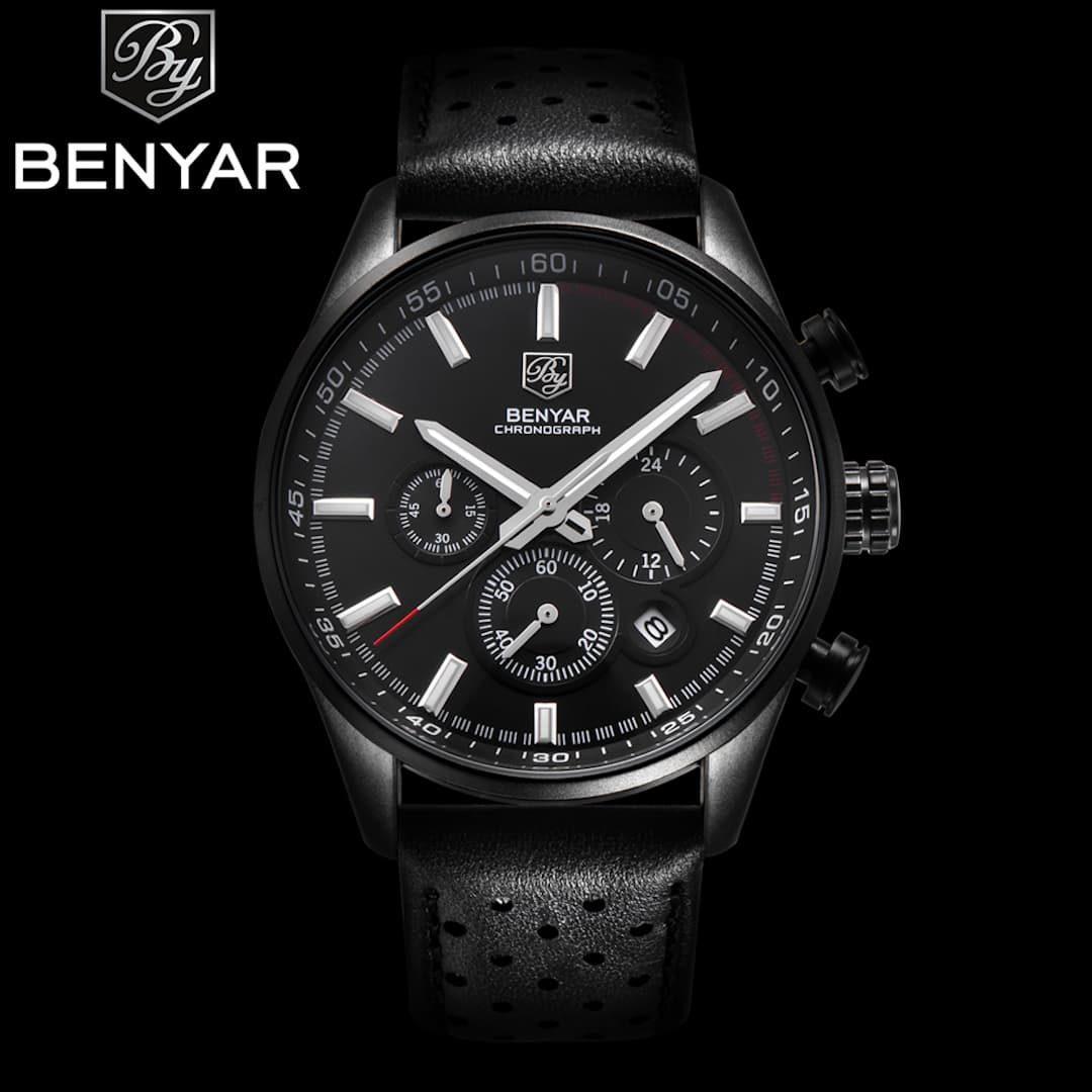 Moška ročna ura Benyar Prestige Black