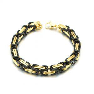 Zapestnica Metal Intertwined Black Gold