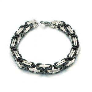 Zapestnica Metal Intertwined Black Silver