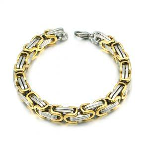 Zapestnica Metal Intertwined Silver Gold