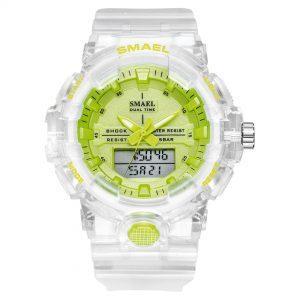 Ročna ura Smael S-shock Dual Time Green