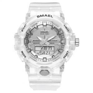 Ročna ura Smael S-shock Dual Time Silver
