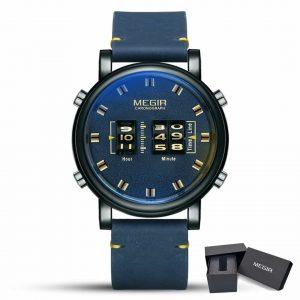 Moška ročna ura Megir Military Blue