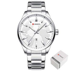 Moška ročna ura Curren Globe Silver White