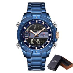 Moška ročna ura NaviForce Racing Line Blue