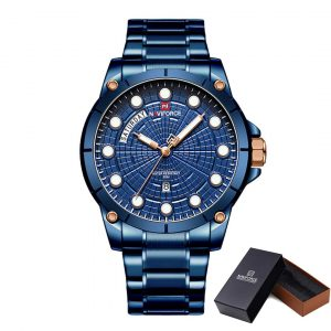 Moška ročna ura NaviForce Spyder Blue