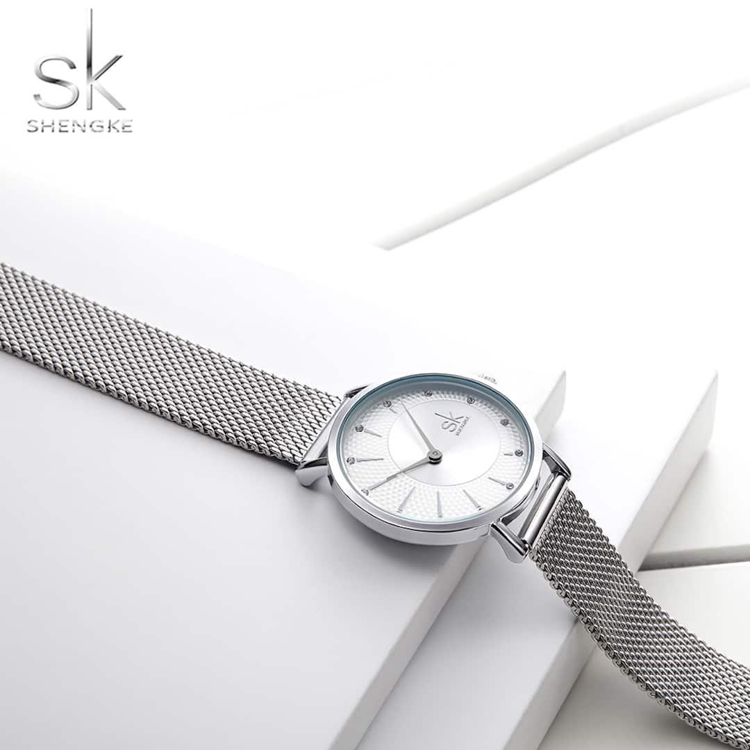 Ženska ročna ura SK Shengke Wave Silver