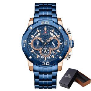 Moška ročna ura NaviForce Strip Blue